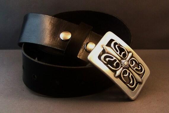 Leather Black Belt, Leather Snap Belt, Women's Leather Belt, Men's Leather Belt, Custom Leather, Belt for Buckle