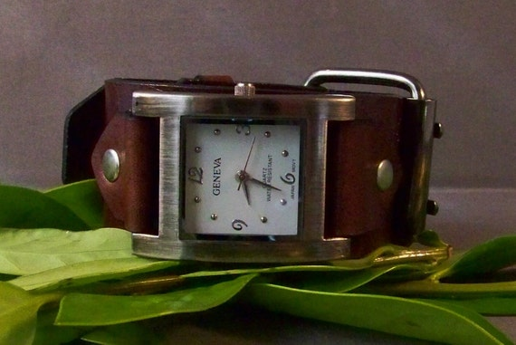 Leather Watchband (Pawter Face)
