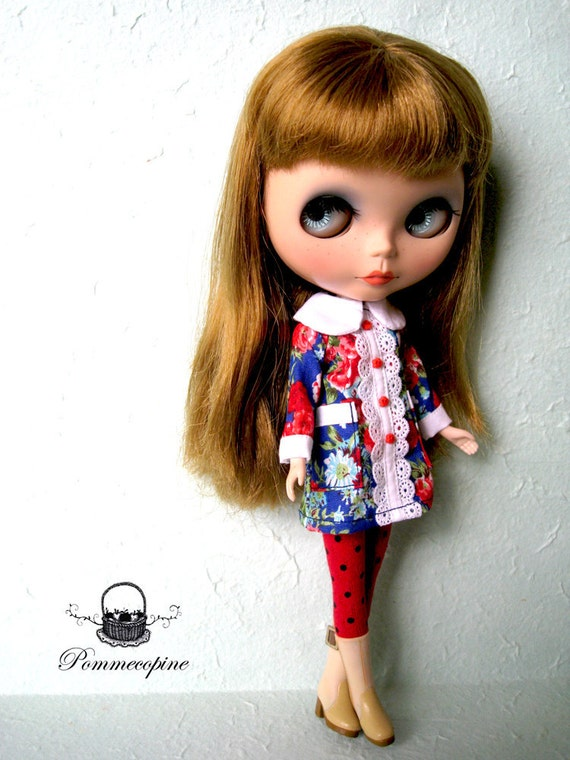Blythe outfit Garden Rendezvous by POMMECOPINE 002 encore new printed
