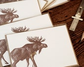 I Wicked Moose You (a seriously missing you greeting in a single letterpress printed card & envelope)