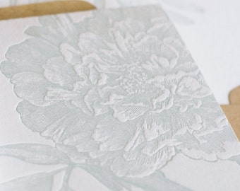 A Flower Flavored Greeting (in a single letterpress printed card & envelope)