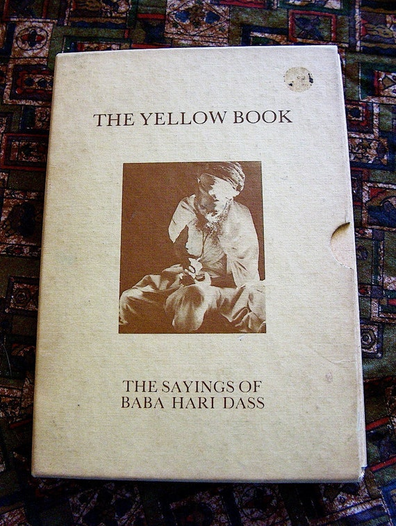 1970 First Edition The Yellow Book, The Sayings of Baba Hari Dass