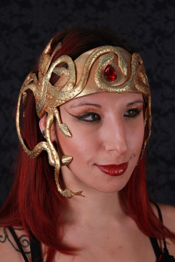 CUSTOM Medusa / Cleopatra Golden Snake Crown