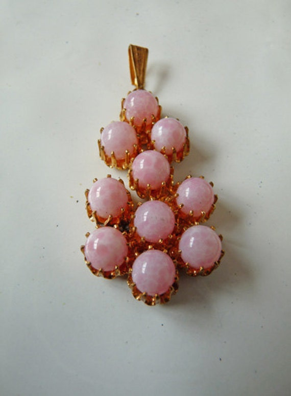 RESERVED  Bubblegum Pink Art Glass Pendant