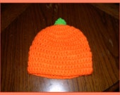 pumpkin  CROCHET BABY HAT 0to 6 months
