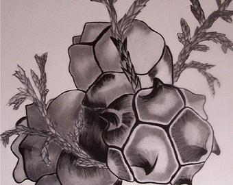 original pencil ,charcoal, ink drawing