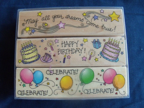 Clearance Birthday Stamps by Hero Arts
