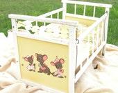 Sale Adorable Vintage Realistic Doll Cat Dog Crib