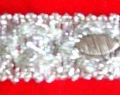 Glitzy Vintage Silver and Rhinestone Trim