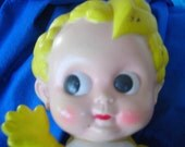 Cupie or Campbells Soup Yellow Vinyl Doll