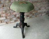 Antique Cast Iron Swivel Oragan Stool - Piano Stool