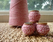 Red and White Bakers Twine and Vintage Spool