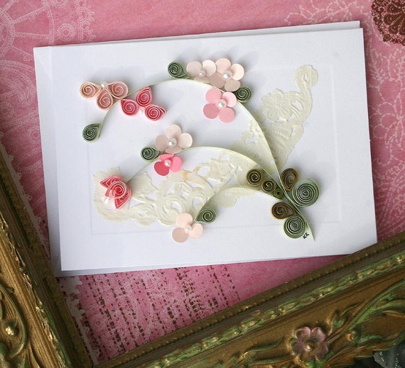 Quilled All Occasion Card Pinks - M