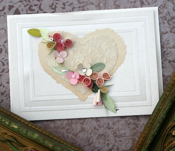 Quilled Valentine Card - B