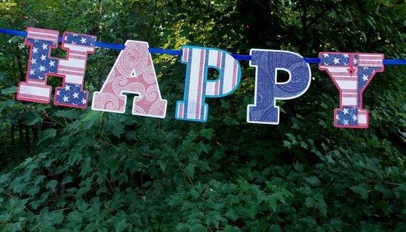 Happy Birthday Letter Red White Amp Blue Stars Stripes