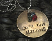 Counting Them - Hand Stamped & Custom Necklace