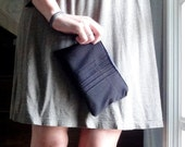 Eco-Friendly Clutch, Basic Black Pleated Upcycled Pouch