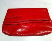 Red Bow Clutch -Valentine Weekend Sale