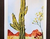 GREETING CARD Desert Cactus