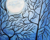 GICLEE PRINT 8 x 10 signed art print Once in a Blue Moon