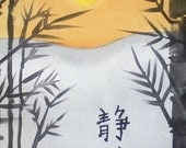 Asian Japanese ACEO Kanji Serenity Giclee Limited Edition Print ACEO  by Karen J. Kolnes