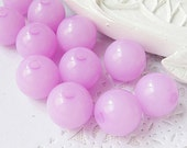 60PCS 12MM Pastel plastic resin round beads Purple (11-19-375)