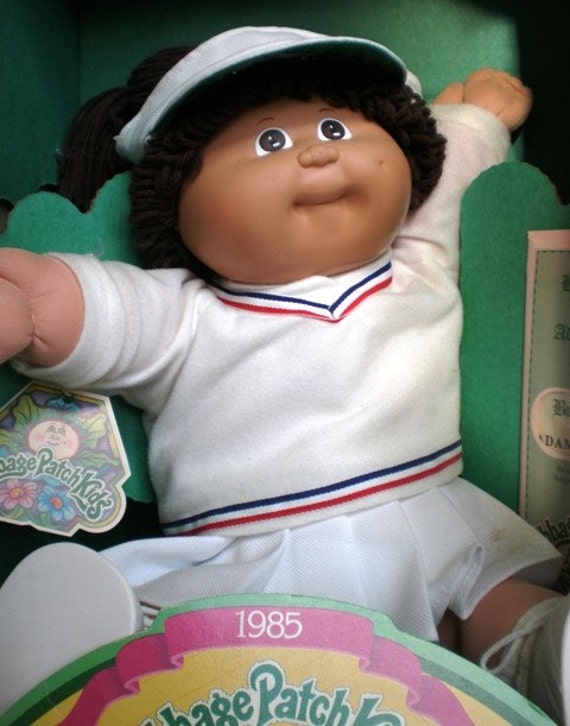 1985 Cabbage Patch Kids Doll Soft Sculpture with Birth Certificate in Box