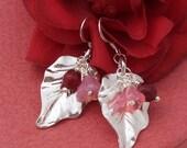 Carnelian Earrings, Sterling Silver Earrings, Gemstone Earrings, Handmade Jewelry