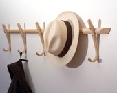Wooden coat hooks, steambent, hook rack, ash, made in England - reserved for Lona/Canada