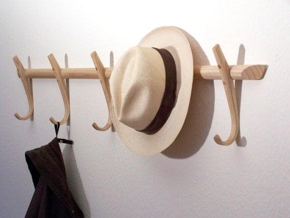 Wooden Coat Hooks Steambent Hook Rack Ash Made In England