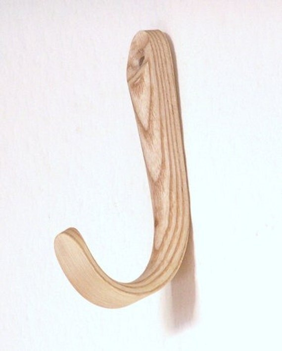 Single steambent hook, ash, made in England