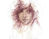 Rose - Signed and Editioned Giclee Print with Silkscreen varnish by Carne Griffiths