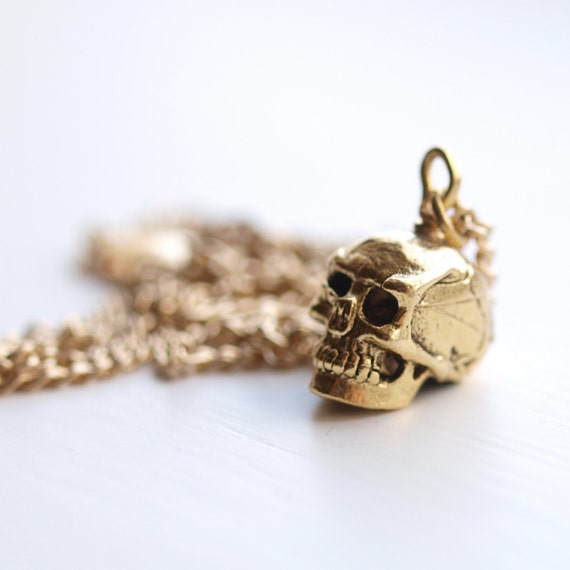 Miley . Skull Necklace