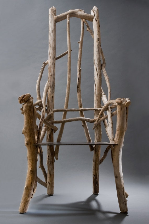 Driftwood Chair with plate steel seat