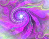 Abstract Art Chakra Violet Swirl Third Eye Energy Art Digital Painting Intuition