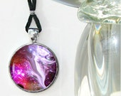 Angel Necklace Reiki Energy Pendant Necklace Chakra Jewelry Fuchsia