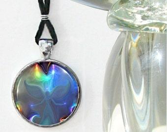 "Angel Necklace, Chakra Jewelry, Energy Pendant Reiki Attuned ""Through the Mist"""