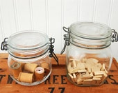 Farmhouse Glass Canisters - Set of Two
