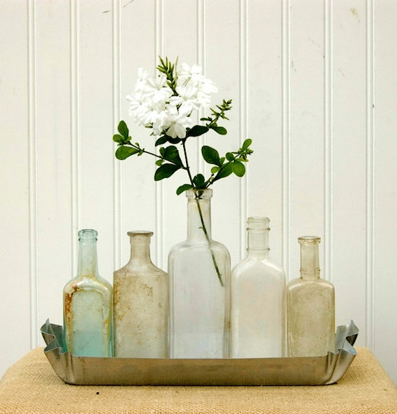 """Antique Apothecary Bottle Collection """"Winter In Carmel"""""""