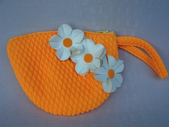 Swim Cap Bag - Yellow Zip