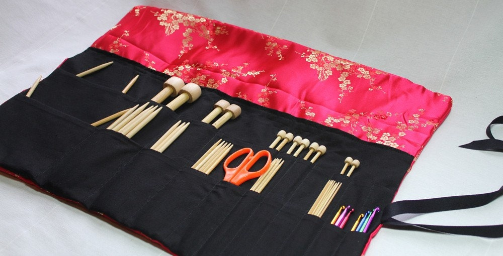 Knitting Needle Storage Case Pattern : Knitting needle case pdf pattern by skadoot on etsy