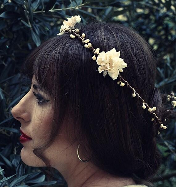 Crown - Tiara white Ofelia