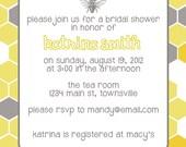 Bee Hive Wedding Shower Invitation - Digital Download