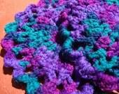 Dark Purple and Green Crochet Pot Holders