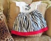 Skirt Set - Zebra and Hot Pink