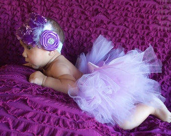 Baby Girl Tutu, Lavender, Newborn Tutu, Photo Prop, Baby Shower, Gift, Girls Tutu