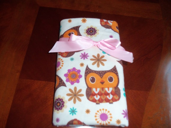 Swaddler Blanket  -  Brown Owls. LARGE