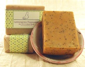 La La Lemongrass Poppy Seed - Handcrafted Exfoliating Shea Butter Soap
