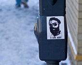 "GREAT GIFT IDEA--- I Am Art - 5""x7"" Photography Print - sticker graffiti street art parking meter"