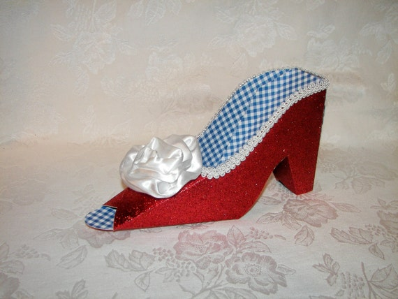 Ruby Slipper Decoration or Centerpiece LARGE